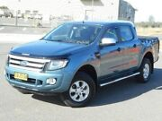 2014 Ford Ranger PX XLS Double Cab Blue 6 Speed Sports Automatic Utility Run-o-waters Goulburn City Preview