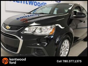 2018 Chevrolet Sonic LT with heated seats. Black on black.