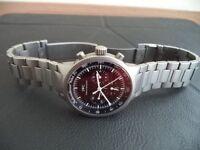 IWC Mens Titanium watch with Titanium metal strap