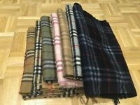 Burberry Scarf Scarves Nova Check Men Women Unisex Black Grey Navy Blue Light Brown Designer Harrods