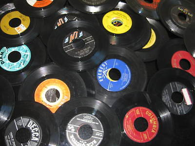 100 45 RPM VINYL RECORDS SOCK HOP PROM 50TH 60TH BIRTHDAY PARTY BAR MITZVAH