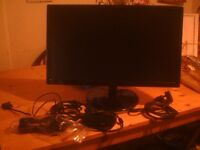"AOC fully working 22"" monitor with UK and European cables"