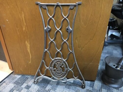 Vintage Singer Sewing Machine Treadle Base Cast Iron End Leg (single)