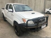 2007 Toyota Hilux KUN26R 06 Upgrade SR (4x4) White 5 Speed Manual Dual Cab Pick-up Hoppers Crossing Wyndham Area Preview