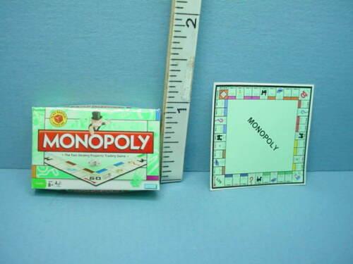 Miniature Game of Monopoly- Board  & Box  -  1/12th Scale Cindi