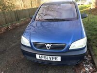 VAUXHALL ZAFIRA 7 SEATER IN EXCELLENT CLEAN CONDITION DRIVES VERY QUITE AND SMOOTH NO FAULTS