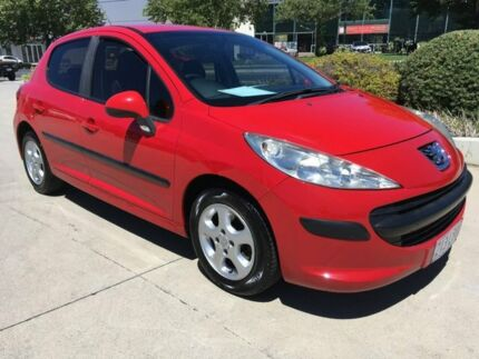 2008 Peugeot 207 A7 XR Red 4 Speed Sports Automatic Hatchback Fyshwick South Canberra Preview