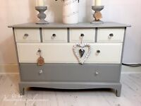 STAG Minstrel, chest of drawers, upcycled and refurbished using Annie Sloan paint and lacquer!
