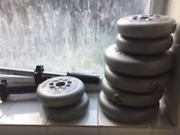 SET OF DUMBELL WEIGHTS FOR SALE - £10 - COLLECTION ONLY BERMONDSEY