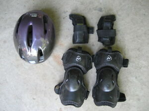 Helmet, Knee Pads, & Wrist Guards