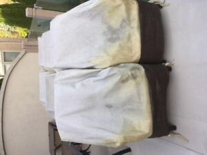 six (6) Aluminum frame highback patio chairs for sale $150.