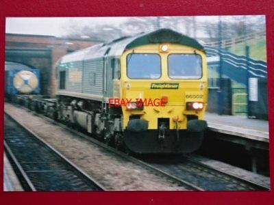 PHOTO  BR CLASS 66 LOCO NO 66502 IN FREIGHLINER LIVERY