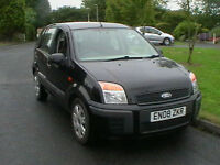 08 REG FORD FUSION 1.4 TDCI DIESEL STYLE CLIMATE 5 DOOR MPV ESTATE IN BLACK