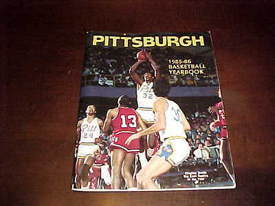 1985 Pitt Panthers Basketball Media Guide