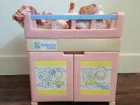 Today's Kids Doll 3-in-1 Changing Table + Bath + Rocking Cradle