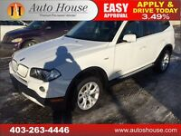 2009 BMW X3 PANORAMIC ROOF LOW KM 90 DAYS NO PAYMENTS $200/BW