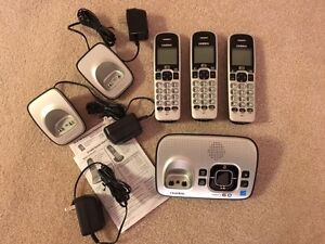 Two Uniden Dect 6.0 phone and answering machine sets