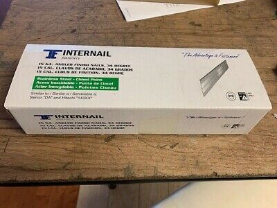 Stainless Steel 15 Ga Angle Da Finish Nails 2-12l 8000 Nailsbox 304 Grade