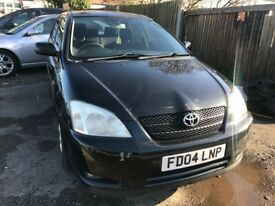 2004 Toyota Corolla 1.6 VVT-i T3 5dr AUTOMATIC, BLACK, CHEAP ,PERFECT RUNNER, LOW INSURANCE