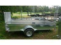 2016 63''X10FT UTILITY TRAILER W/CLOSED SIDED