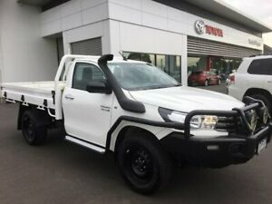 2016 Toyota Hilux GUN126R SR (4x4) Glacier White 6 Speed Manual Cab Chassis Sale Wellington Area Preview