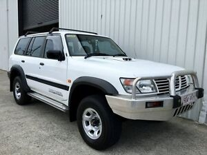 2001 Nissan Patrol GU II ST White 4 Speed Automatic Wagon Parkwood Gold Coast City Preview