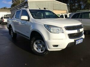 2014 Holden Colorado RG MY14 LT (4x4) White 6 Speed Manual Crew Cab Pickup Margaret River Margaret River Area Preview