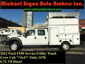 2012 FORD F550 SERVICE / UTILITY TRUCK *4X4* 6.7L DIESEL *RARE*