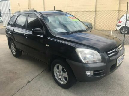 2008 Kia Sportage KM2 LX Black 4 Speed Automatic Wagon St James Victoria Park Area Preview