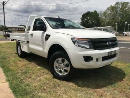 2012 Ford Ranger PX XL 3.2 (4x4) Cool White 6 Speed Manual Cab Chassis