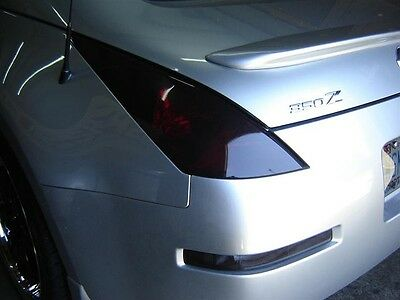 FOR 03-08 350Z TAIL LIGHT PRECUT SMOKE TINT OVERLAYS