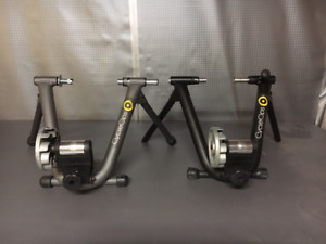 2 CycleOps wind trainers