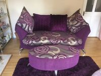 DFS sofa and foot stool For Sale only 11 months old *PERFECT CONDITION*