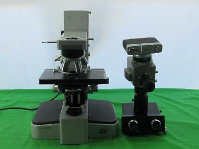 Leitz Wetzlar Orthoplan Trinocular Microscope W Four Objectives Olympus Camera