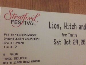 Stratford Festival- The Lion, the Witch and the Wardrobe Tickets