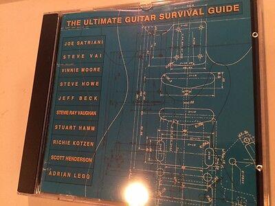 Ultimate Guitar Survival Guide Cd 10Tracks Vai  Satriani  Beck  Howe Kotzen Rare