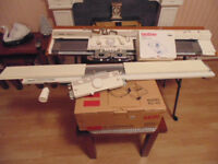 Used knitting machine with accessories
