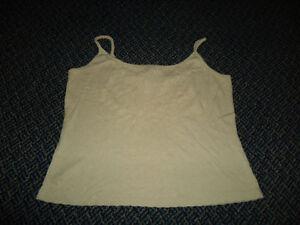 Ladies Size Large Beige Spaghetti Strap Tank Top by Cotton Ginny Kingston Kingston Area image 1