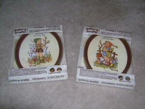 VINTAGE HUMMEL CREWEL EMBROIDERY KITS COMPLETE WITH FRAME NIP