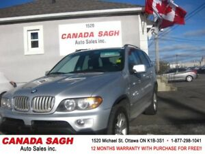 2004 BMW X5,EXCEP.CLEAN LUXURIOUS AWD ! 12M.WRTY+SAFETY $6990