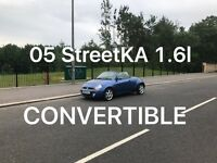 Convertible 2005 Ford StreetKa 1.6l* £995 *like astra megane CC Golf a1 a3 307