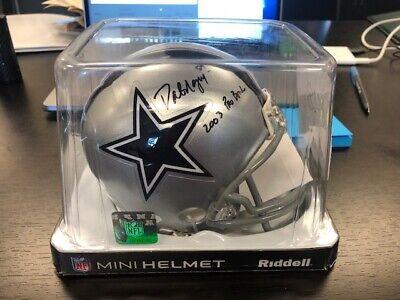 "Dat Ngyuen Signed Dallas Cowboys ""2003 Pro bowl"" mini football helmet W/ JSA COA"