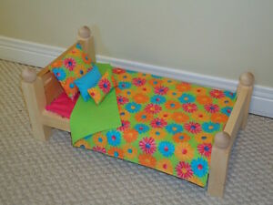 "Solid Wood Doll Beds for 18"" dolls"