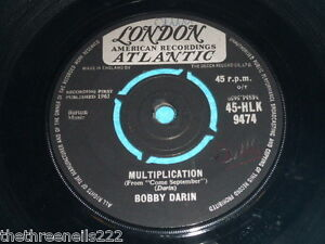 VINYL-7-SINGLE-BOBBY-DARIN-MULTIPLICATION-45-HLK-9474