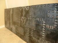 Funky Black & Silver Hammered Panel Headboard