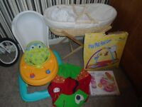 moses basket,baby walker,baby bath,bath chair,play gym,sitting ring