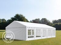 Marquee Party Tent Heavy Duty 500g/m2 PVC WATERPROOF TARPAULIN 6M x 10M FOR SALE **USED ONCE**