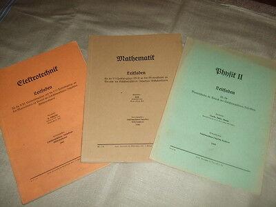 Leitfaden für Marineschulen,1940/41,Elektrotechnik,Mathe,Physik,See-Fachbücher!