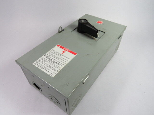 Federal Pioneer 1336 Fusible Disconnect Switch 30A 3P 600Vac 240Vdc  USED
