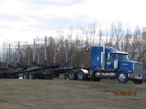 logging truck and jeep/hayrack for sale